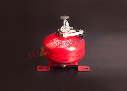 Car with ultra-fine dry powder fire extinguishing device (storage pressure type)